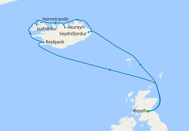 Whales, Waterfalls & Geysirs of Iceland from Rosyth