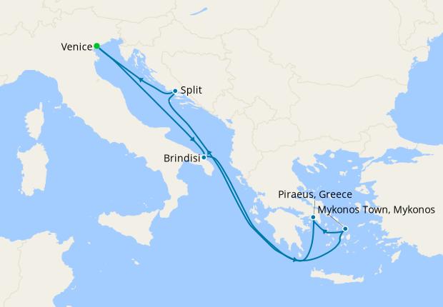 Italy, Greece & Montenegro from Venice