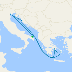 Italy, Greece & Montenegro from Brindisi