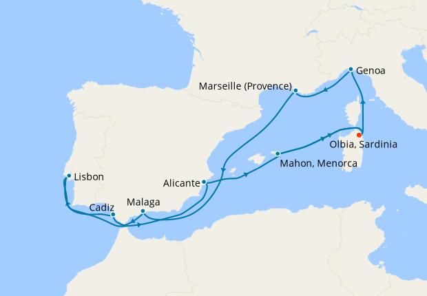 Italy, Turkey & Greece from Genoa