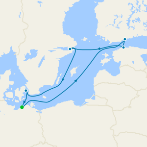 Baltic Cities & St. Petersburg from Warnemunde