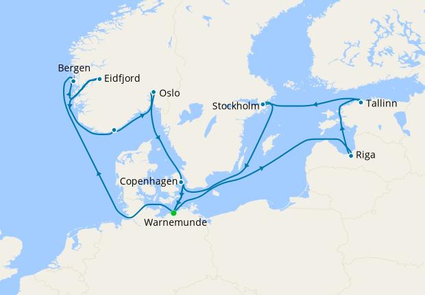 Northern Europe from Warnemunde