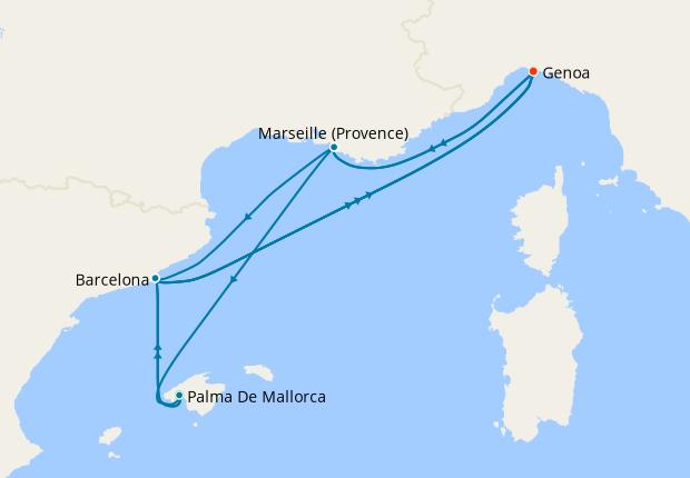 Canary Islands & Mediterranean from Marseille