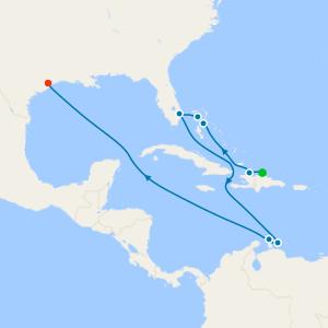 Transatlantic from Barcelona to Galveston