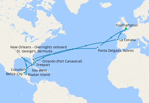 No-Fly Caribbean Adventure from Southampton