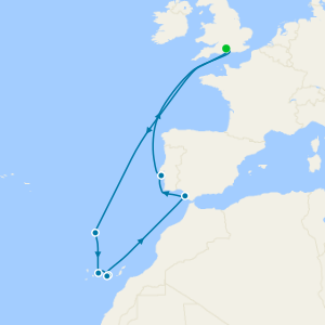 Maiden Voyage to Spain, Portugal & Canary Islands from Southampton
