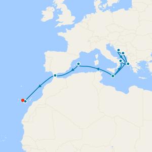 Mediterranean & Canary Islands from Malta