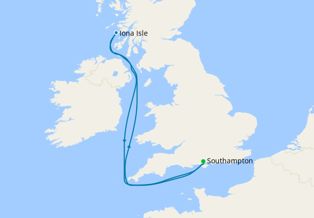 Maiden 7 Nt Iona Ultimate UK Summer Staycation from Southampton