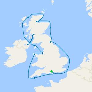 12 Nt Luxury British Isles Coastal Cruise from Southampton with Henry Blofeld
