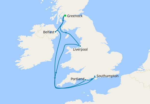 7 Nt All Inclusive British Isles Cruise from Greenock