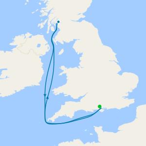 5 Nt British Isles Family Summer Holiday from Southampton