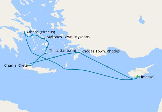 Greek Isles from Cyprus