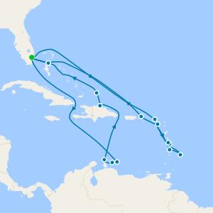 Southern Caribbean Wayfarer & Seafarer from Ft. Lauderdale