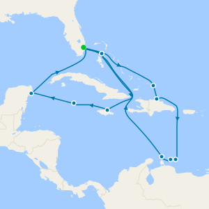Western & Southern Caribbean Seafarer from Ft. Lauderdale