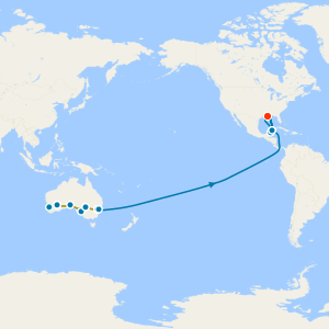 Indian Pacific Rail from Perth to Sydney & South Pacific Explorer with Stays