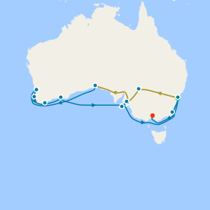 Indian Pacific Rail fr. Sydney to Perth & Australia Intensive Voyage with Stays