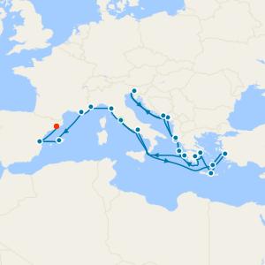 Greek Odyssey & Mediterranean Romance from Rome to Barcelona