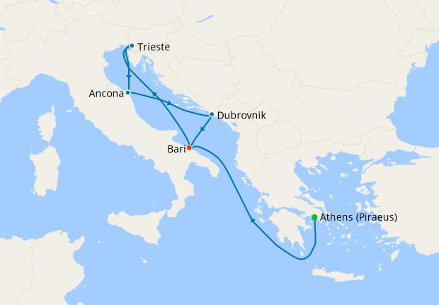 Italy, Greece, Montenegro & Croatia from Bari