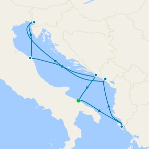 Italy, Greece, Montenegro & Croatia from Bari