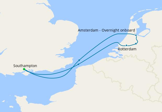 Amsterdam - Overnight onboard
