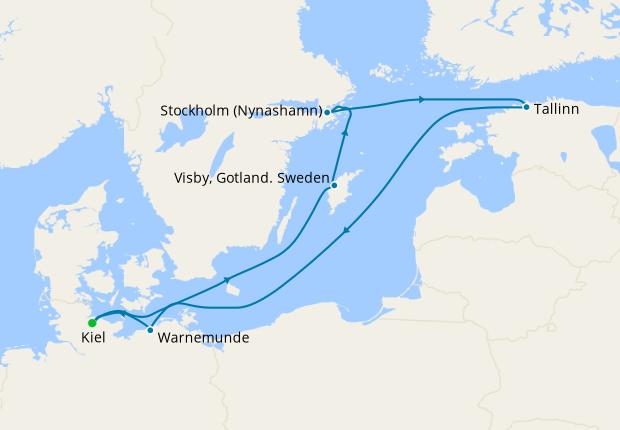 Germany, Denmark & Norway from Kiel