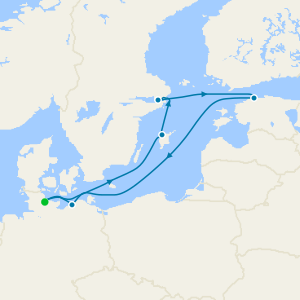 Baltic Cities & St. Petersburg from Kiel
