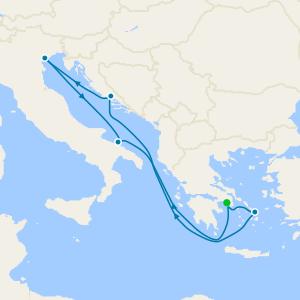 Greece, Croatia & Italy from Athens