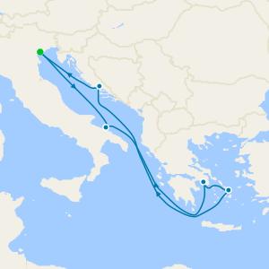 Italy, Greece & Croatia from Venice