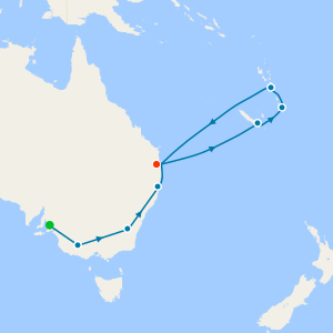 Great Southern Rail fr. Adelaide - Brisbane for Christmas & Cruise South Pacific
