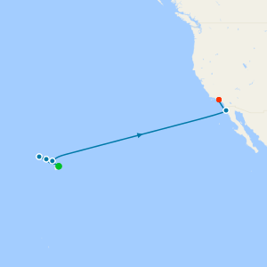 Baja Peninsula & Sea of Cortez from Los Angeles