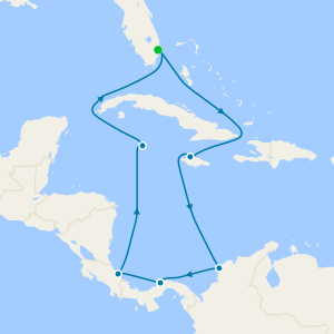 Panama Canal with Costa Rica & Caribbean from Ft. Lauderdale