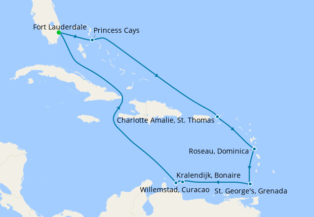Southern Caribbean with Curacao from Ft. Lauderdale