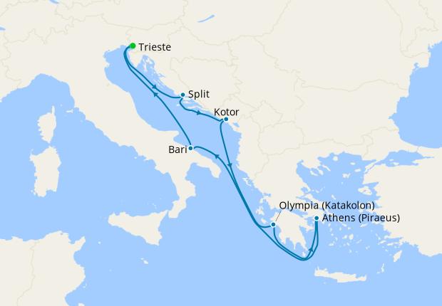 Italy, Croatia, Montenegro & Greece from Venice