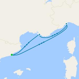 The Mediterranean to Denmark & Sweden from Barcelona