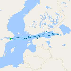 Sweden, Finland, Russia & Estonia from Stockholm