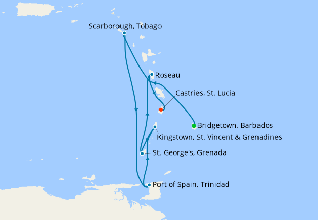 Southern Caribbean Island Hop from Barbados
