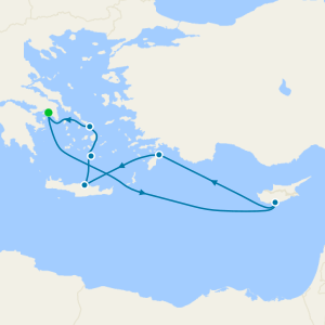 Greek Islands & Cyprus from Athens