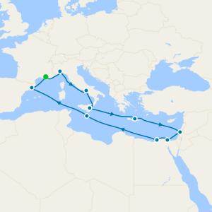 France, Italy, Greece, Egypt, Malta & Spain from Marseille
