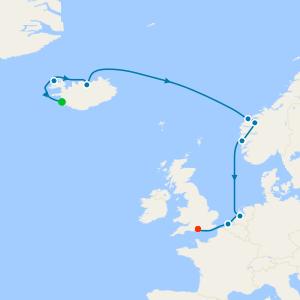Northern Europe from Reykjavik to Southampton