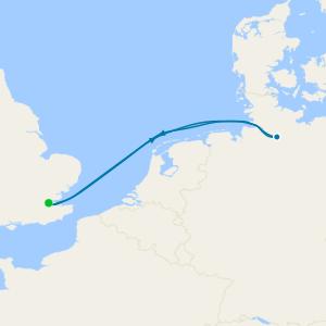 Maiden Voyage to Hamburg from Tilbury