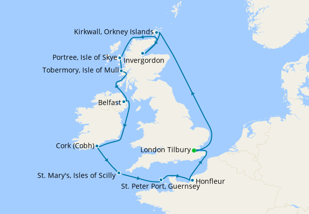 British Isles Discovery from Tilbury