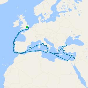 Grand Black Sea & Mediterranean from Tilbury