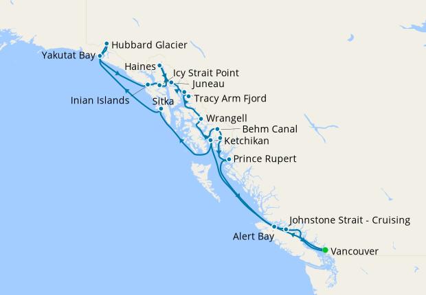 Alaska Glaciers, Fjords & Inside Passage from Vancouver