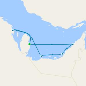 Qatar, United Arab Emirates & Saudi Arabia from Doha