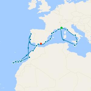 Tyrrhenian Sea, Iberia & Atlantic Crossing from Monte Carlo