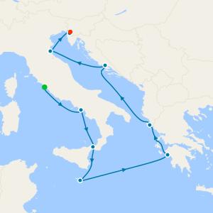 The Adriatic & Italy from Rome (Civitavecchia)