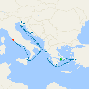 Marvels of Greece & Italy from Athens (Piraeus)