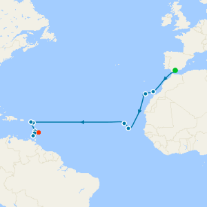 Voyage to the Tropics from Malaga to Barbados
