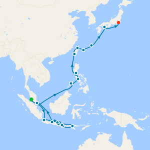 Taiwan, Philippines & China from Japan