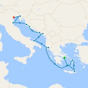 Mediterranean from Athens to Venice